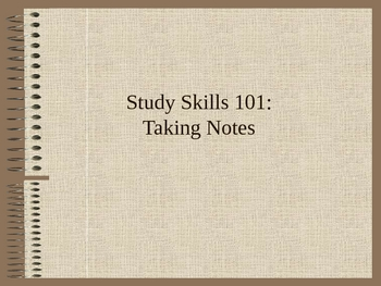 How to Take Notes in High School (Presentation Slides)