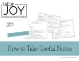 How to Take Useful Notes