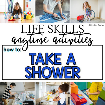 How to Take a Shower Life Skill Anytime Activity | Life Skills Activities