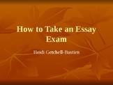 How to Take an Essay Exam PowerPoint