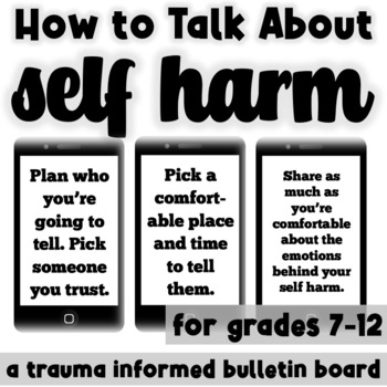 How to Talk About Self Injury: A Bulletin Board