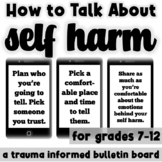 How to Talk About Self Harm: A Bulletin Board