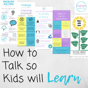 How to Talk so Kids can Learn Poster BUNDLE