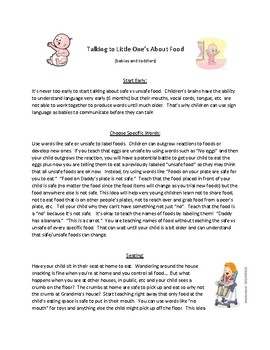 How to Talk to Little Children About Safe Foods - Food Allergies
