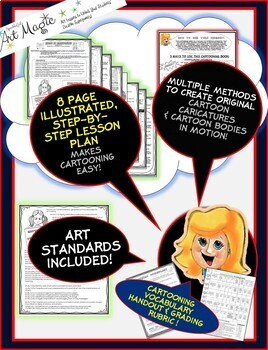 How to Teach Cartooning PLUS 25 Page Cartooning Book!