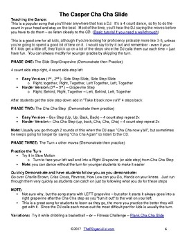 How to Teach Line Dances in Physical Education |Dance Steps Cheat Sheet for PE|