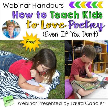 How to Teach Poetry - Free Webinar Handouts