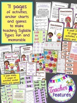 Boom Cards Reading   Syllable Types   Digital Task Cards