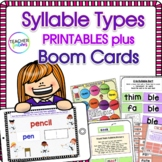 Syllable Types PRINTABLES (open and closed syllables & mor