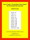"How to Teach ""The Doubles Times Tables"" So All Students Ca"