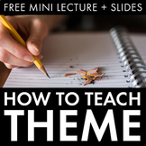How to Teach Theme, FREE Mini-Lecture & Slides, Literary A