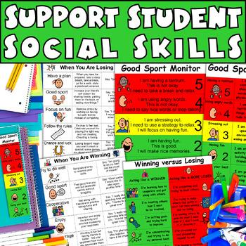 How to Teach Winning versus Losing: Good Sport Rules Visuals Autism, Aspergers