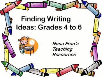 How to Teach Writing: Finding Ideas (Grades 4 to 6)
