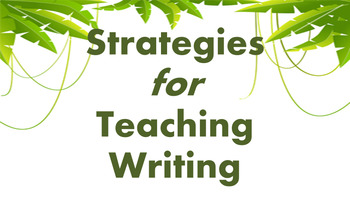 How to Teach Writing, Teacher Training Presentation - English, PowerPoint, Staff