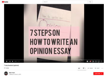 How to Teach Writing  - Youtube videos *Link in description
