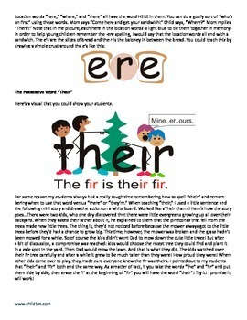 How to Teach the Difference Between Their, There and They're