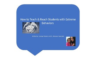 How to Teach the Most Severe Behavior Students