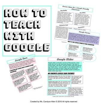 How to Teach with Google