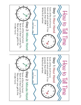 How to Tell Time Anchor Chart