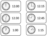 How to Tell Time printable Flash Cards. Preschool printable flashcards.