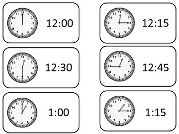 How to Tell Time printable Flash Cards. Preschool printabl