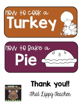 How to... Thanksgiving Writing