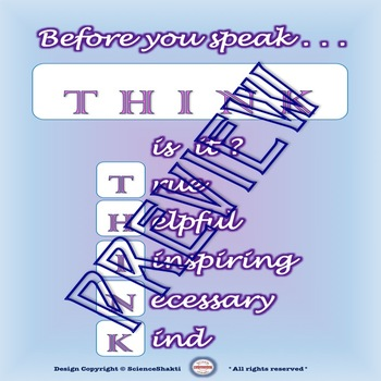 How to Think about Thinking  - Classroom Procedures - Poster