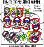 How to Tie Your Shoes Clipart- set one
