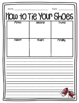 How to Tie Your Shoes Informational {Differentiated} Writing