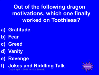How to Train Your Dragon by Cressida Cowell Jeopardy
