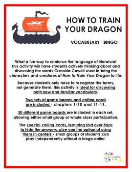 How to Train Your Dragon Vocabulary bingo