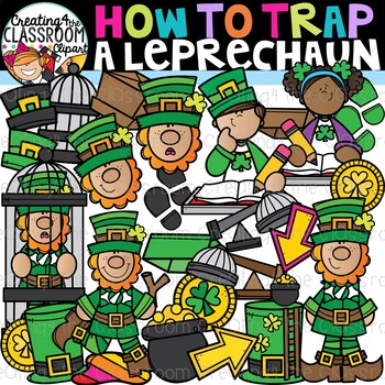 How to Trap a Leprechaun Clipart {Leprechaun Clipart}