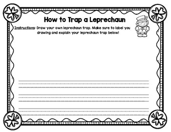 How to Trap a Leprechaun Writing Activity