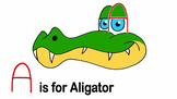 How to Turn Letter A into an Aligator - Video and Printables