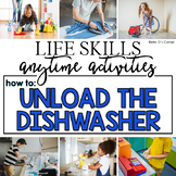 How to Unload a Dishwasher Life Skill Anytime Activity | Life Skills Activities