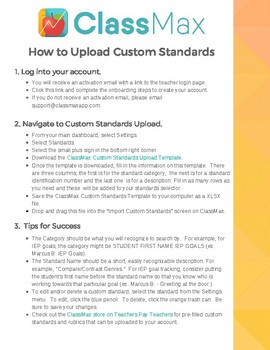 How to Upload Custom Standards in ClassMax