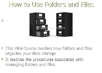 How to Use Folders and Files - Slides