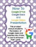 How to Use Google Drive, Docs, and Slides Tutorial Presentation for Beginners