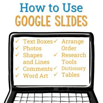 How to Use Google Slides - All About Me EBook