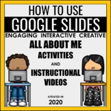 How to Use Google Slides Video Lessons & All About Me Distance Learning Activity