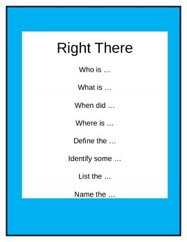 How to Use QAR in Your Classroom with posters and Question Stems
