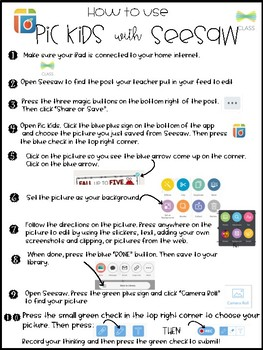 How to Use Seesaw & Pic Kids