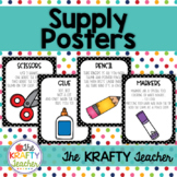 School Supply Posters - Pencil Grip and More