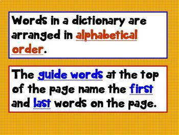 How to Use a Dictionary 3rd Grade Common Core L 3.2g