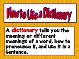 Common Core How to Use a Dictionary PPT CCSS Grades 2, 3, and 4.