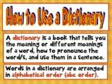 How to Use a Dictionary Grades 2-5 Common Core