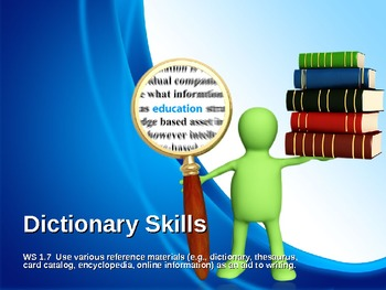 How to Use a Dictionary Lesson