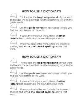 How to Use a Dictionary for Spelling Errors