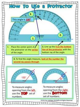 how to use a protractor freebie by downeast teach teachers pay teachers. Black Bedroom Furniture Sets. Home Design Ideas