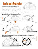 How to Use a Protractor Handout